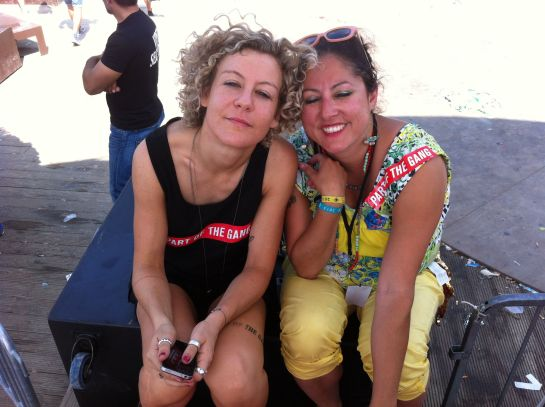 Me and  Berlin DJ tINI at Sonus Festival, 2012. I'd just interviewed her at 12 noon after she'd finished her 6 hour set.