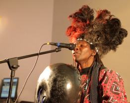 Linos Wengara at Crawley Wordfest, Writing Our Legacy, 2012. Photo: Bip Mistry