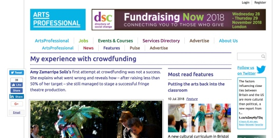 arts pro screen shot crowdfund